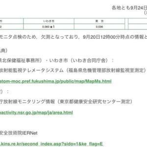 日本と韓国の空間線量率