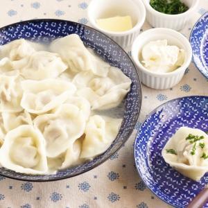 ペリメニのレシピと作り方・サワークリームやバターをつけたものが日本酒に合う!