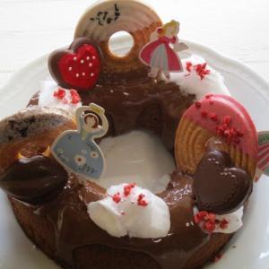 ゆめかわ♡ドーナッツショコラケーキ♪