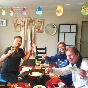 オランダで退職祝い&お誕生日祝い♪