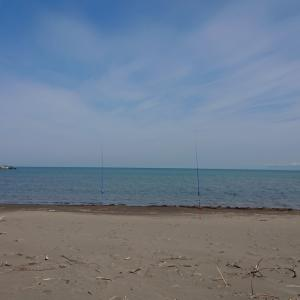 5/8 第16ラウンド 9:00~12:00 石狩浜 東防砂堤 北側サーフ  気温15~20度