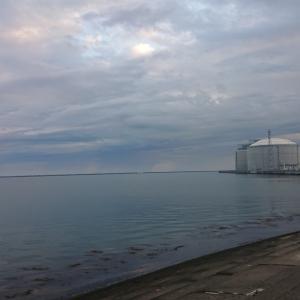 5/22 第19ラウンド 04:00~11:00  石狩湾新港花畔カーブ ガスタンク横 14~19度 カワガレイ ホッケ マガレイ