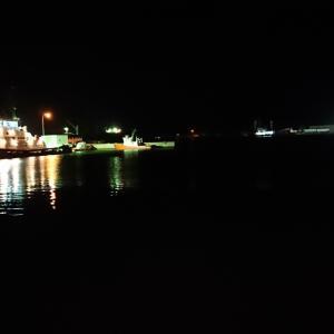 9/27 第55ラウンド 19:00~22:00  ルアーの旅 石狩湾新港東埠頭 望洋橋付近 気温14度