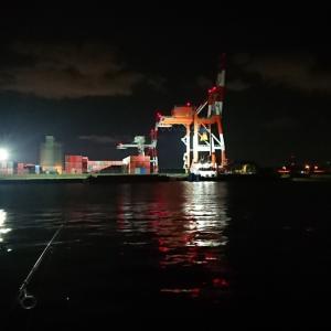 10/15 第65ラウンド 23:00~3:00  一人夜釣り 石狩湾新港 花畔埠頭 ヒラメ探し ルアーの旅 9度