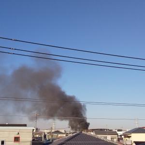 会社の近くで火事