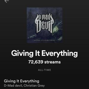 【音楽マーケティング論】『Giving It Everything』がストリーム数70,000を達成! ~ Spotify公式プレイリスト'Discover Weekly'にて多くのターゲットへ向けてピックアップされリスナー数が急上昇 ~【マーケティング報告】