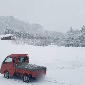 今年初の雪中キャンプ1(サーカスTC-DX設営)
