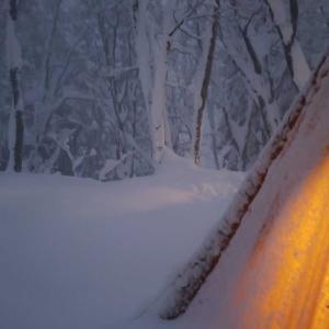 今年初の雪中キャンプ3(過酷な撤収)