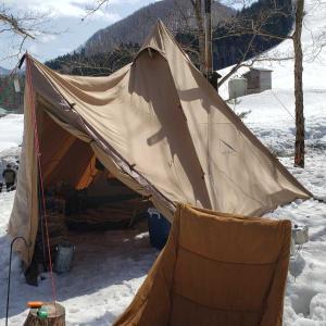今年二回目の雪中キャンプ2