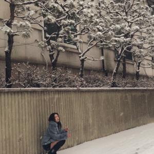 雪の中撮影してきました!
