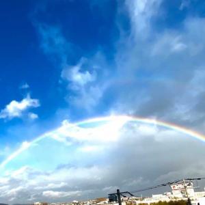 大嘗祭二日前で虹が出たよ🌈