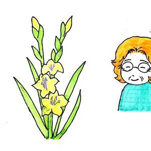 胸に咲いた黄色い花