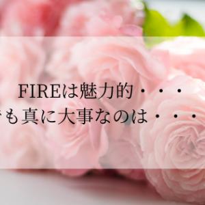 FIREは魅力的・・・でも真に大事なのは・・・?