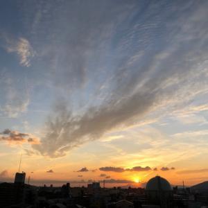 熊本の空〜夕日と雲〜