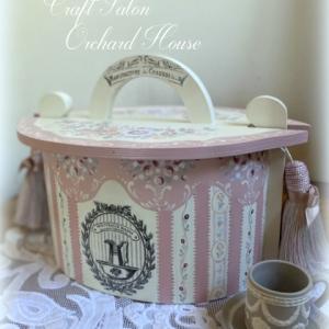 ⁂ピンクが可愛いタインバスケット***焼き菓子を入れてお茶会へ~♪
