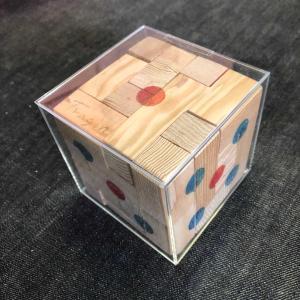 転がしてもくずれない「組み木ダイスパズル」(その2)