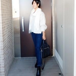 2日連続で着るくらいお気に入りニットでコーデ☆靴とバッグで印象をチェンジ☆