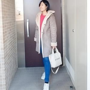華やか色UNIQLOセーターでカジュアルママコーデ
