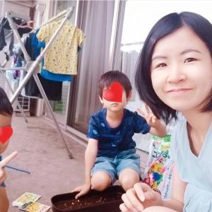 夏至の日に子どもたちとベランダにて種まき☆
