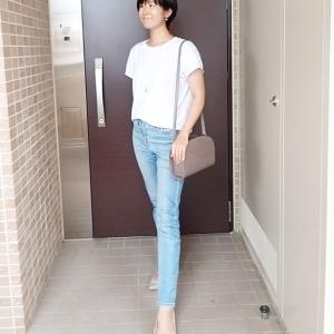 上下UNIQLOでシンプルTシャツ×デニムコーデ☆