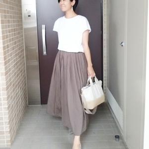 夏に大活躍UNIQLOT×カラースカートでご近所ママコーデ☆