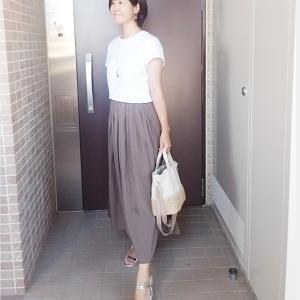 爽やかUNIQLOT×秋色スカートでシックなママコーデ☆
