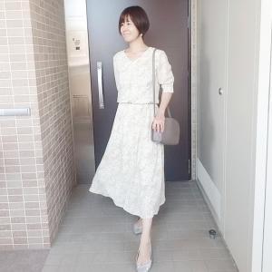 花柄ワンピースで美容院コーデ☆