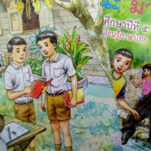 タイの小学国語の教科書マニマナ、本当はマナマニがついにコンプリート