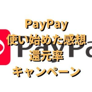 スマホ決済PayPay 使い始めた感想と、還元率やキャンペーンまとめ