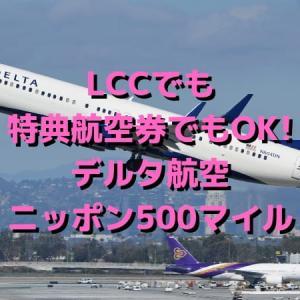 国内線に乗ったら必ず申請しよう!LCCでも特典航空券でもOK!デルタ航空ニッポン500マイルキャンペーン