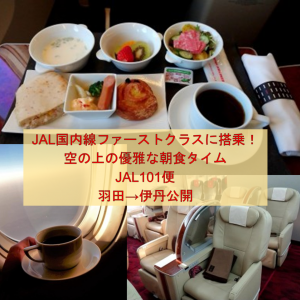 JAL国内線ファーストクラスに搭乗!空の上の優雅な朝食タイム | JAL101便 羽田→伊丹公開