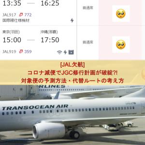 [JAL欠航] コロナ減便でJGC修行計画が破綻?! 対象便の予測方法・代替ルートの考え方