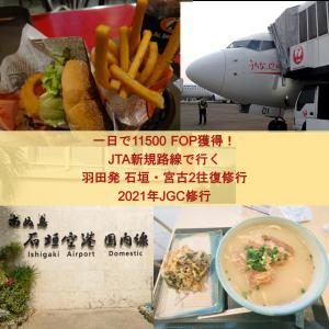 一日で11500 FOP獲得!JTA新規路線で行く羽田発石垣・宮古2往復修行の記録 |2021年JGC修行