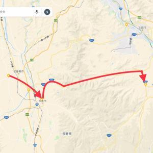 6月11日    安曇野市 → 松本市[松本城散策]→ 長和町(60km)