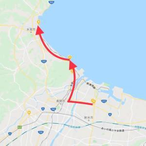 6月27日    射水市 → 高岡市[雨晴海岸] → 氷見市(22km)