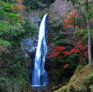 日本の滝百選の内の近畿地方分