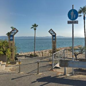 浜の散歩道を自転車で走ってみよう