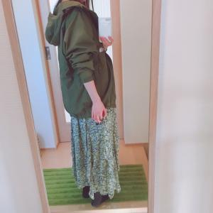ナイロンジャケットと花柄スカート…とスーパーセール