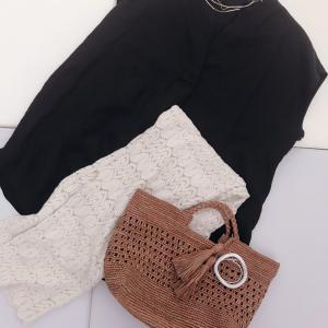 真夏のシャツコーデ…お気に入りスカートとイヤカフetc