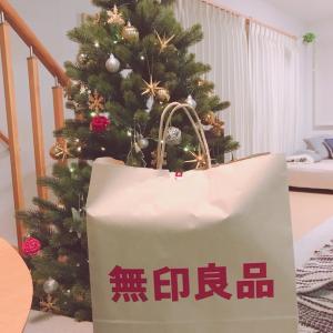 無印良品でお買物…とクリスマスリースを飾る