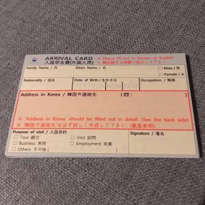 韓国旅行の時にかならず書く、アレ。