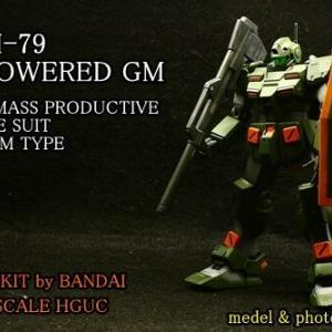 """模型 完成(2020年-2 BANDAI 1/144 HGUC """" RGM-79 POWERD GM """")"""