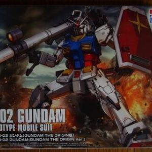 """プラモ購入(2020年-6 BANDAI 1/144 HG GUNDAM THE ORIGIN """" RX-78-02 GUNDAM """")"""