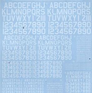"""購入品 ~(2020年-28 サンコーマーク工業 M02 45度 Numbers&Letters """" WING DECAL SERIES WM-05 """" )"""