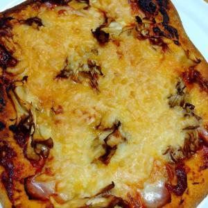 自家製天然酵母で、ピザを作りました。
