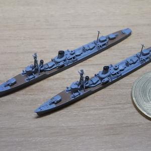 1/2000 特型駆逐艦III型(暁型)リメイク版、サンプル組立