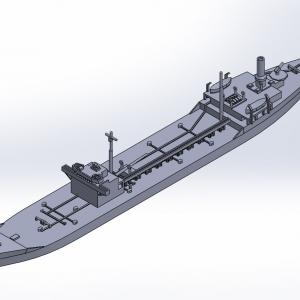 1/2000 戦時標準船2TL型 原型製作記(その3)