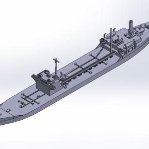 1/2000 戦時標準船2TL型 原型製作記(その4)