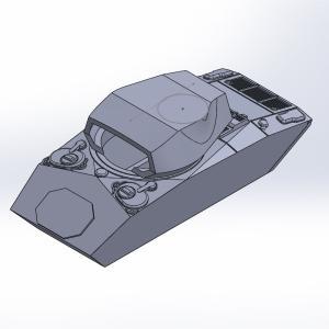 1/144 M24軽戦車チャーフィー原型製作記(その2)