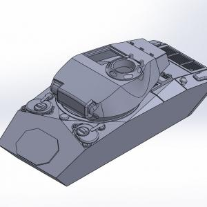 1/144 M24軽戦車チャーフィー原型製作記(その3)